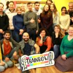Fotografia účastníkov projektu Trainbow.