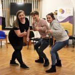 Fotografia troch nadšených účastníkov projektu Spread the word.