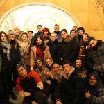 Fotografia skupiny účastníkov projektu Spread the word pri prehliadke mesta Bardejov.