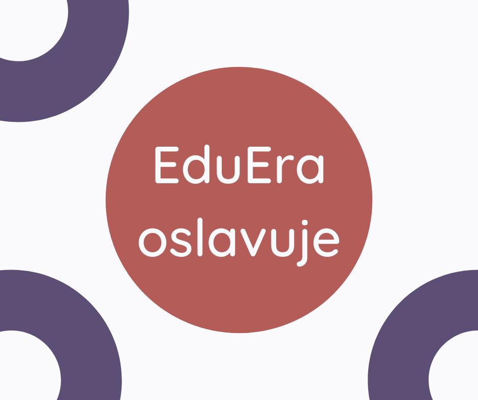 Nový dizajn EduEra využívajúci kruhy a kružnice.