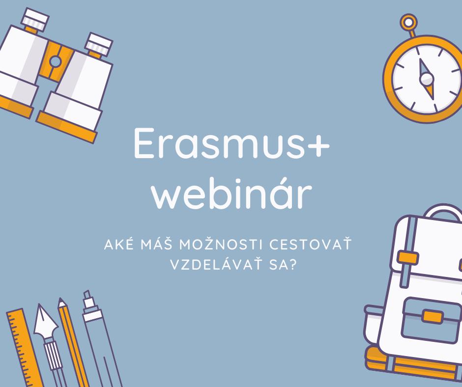 Náhľadový obrázok pre Erasmus+ webináre.